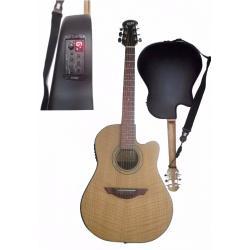 Guitarra Electroacustica Microfono Activo Afinador Fibra