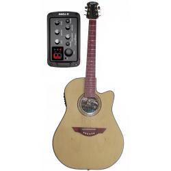 Guitarra Electroacustica 5 Bandas Tapa Fibra Cdas Acero