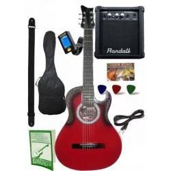 Guitarra Electroacustica Amplificador 10w Afinador Y Mas