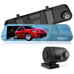 Kdlinks R100 Ultra Hd 1296p Frontal + 1080p Rear 280 ° Espej