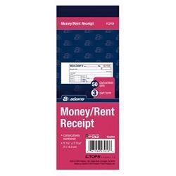 Libro De Recibos Adams Money / Rent, Sin Carbón, 3 Partes, 2