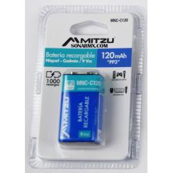 Pila Bateria Recargable 9v 120mah Cuadrada Ni-cd Mitzu Pp3
