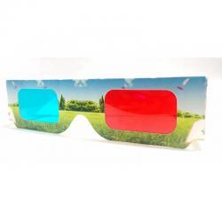 Lentes 3d Carton Paisaje Fotos 3d Rojo Azul Gafas