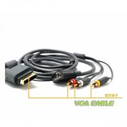 Cable Vga Hd Xbox 360 Audio Y Video Av 1080i 480p Db15-s