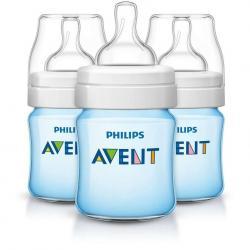 Avent Classic + Plus Set De 3 Biberones 4 Oz Azul Scf562/37