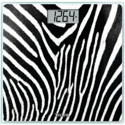 Bascula Digital De Baño Taylor Con Diseño Zebra 7558