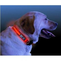 Collar De Led Rojo Perro Nitedawg Nite Ize - Nnd-03-10m Med