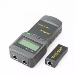 Tester Probador + Medidor De Longitud De Cable Utp Red Rj45