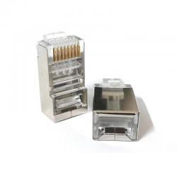Conector Plug Rj45 Cat6 Blindado Ftp Bolsa 100 Piezas