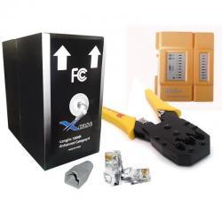 Kit Redes 2-1 Bobina 100m Cable Utp Cat5 + 25 Plug Rj45 Cat5
