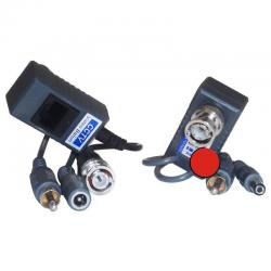 Transceptor Balun Audio Video Y Corriente Por Cable De Red