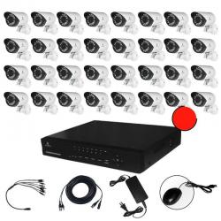 Kit Cctv Ahd Video Hd 720p Dvr 32 Camaras Circuito Cerrado