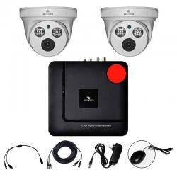 Kit Cctv Ahd Video Hd 1080p Dvr 2 Camaras Circuito Cerrado