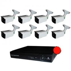 Kit Cctv 2 Megapixeles 8 Camaras Ip Nvr Alta Resolucion