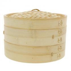 Vaporera De Bambu 20cms Cocina Sano Sin Grasa China Japones