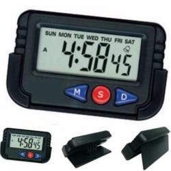 Reloj Digital Lcd Con Alarma Para Auto Mesa Viajes Portatil