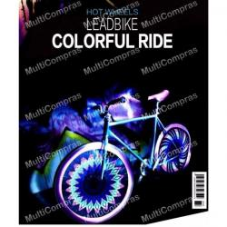 Tira Luz Led Rueda Bicicleta 32 Leds 32patrones Impermeable