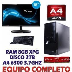 Computadora Completa Memoria 8gb Monitor 18.5 Disco Duro 2tb