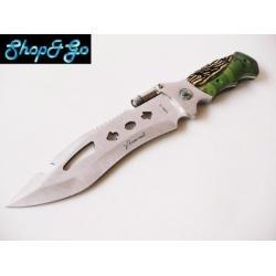 Si buscas Cuchillo De Acero Tipo Militar Para Caza Con Linterna M8029 puedes comprarlo con FERRETERIAFERRESERVI está en venta al mejor precio