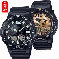 Reloj Caballero Casio Aeq100 - Pila De 10 Años - Cfmx -