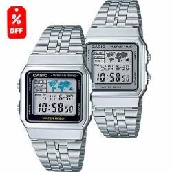 Reloj Casio Retro Vintage A500 Plata - 100% Original - Cfmx