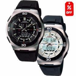 Reloj Casio Aq 164 - Cronómetro De 60 Lapsos - Wr - Cfmx