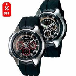 Reloj Casio Aq163 - Cronómetro - Neobrite - Original Cfmx