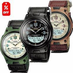 Reloj Casio Aw80 Extensible De Lona - 30 Memorias Wr- Cfmx