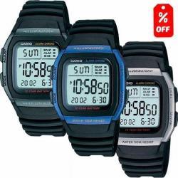 Reloj Casio W96h Caucho - Cronómetro- Pila 10 Años - Cfmx -