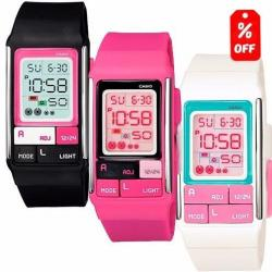Reloj Dama Casio Poptone Ldf52 - 50m - 100% Original Cfmx