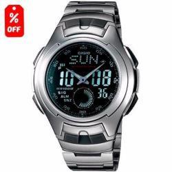 Reloj Casio Aq160 Metal- Pantalla Lcd- Pila De 3 Años - Cfmx