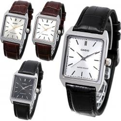 Reloj Caballero Casio Mtpv007 Piel Cara Dorada - Cfmx
