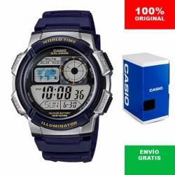 Si buscas Reloj Caballero Casio Ae1000 Azul - Hora Mundial - Cfmx - puedes comprarlo con CFMX está en venta al mejor precio