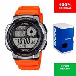 Si buscas Reloj Caballero Casio Ae1000 Naranja - Hora Mundial - Cfmx - puedes comprarlo con CFMX está en venta al mejor precio