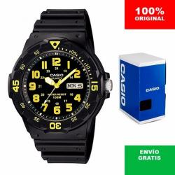 Si buscas Reloj Casio Mrw200 Amarillo - Pila De 3 Años - Cfmx puedes comprarlo con CFMX está en venta al mejor precio