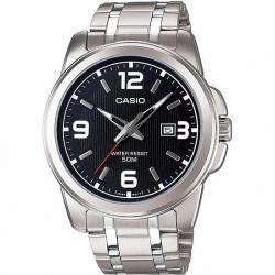 Si buscas Reloj Casio Caballero Mtp1314 Piel Negro + Acero Cara Azul puedes comprarlo con CFMX está en venta al mejor precio