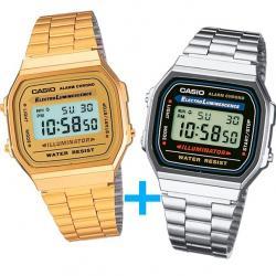Si buscas Reloj Casio A168 Dorado Y Casio A168 Plata - Oferta Especial puedes comprarlo con CFMX está en venta al mejor precio