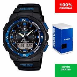 Si buscas Reloj Casio Outgear Sgw500 Azul Brújula Y Termómetro - Cfmx puedes comprarlo con CFMX está en venta al mejor precio