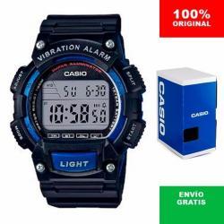 Reloj Caballero Casio W736 Azul - Alarma Vibratoria - Cfmx