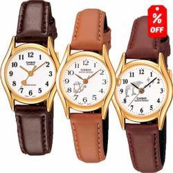 Reloj Dama Casio Ltp-1094q7b8 - Piel - Figuras - Cfmx