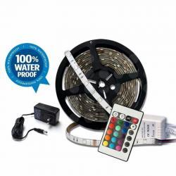 10 Tiras Led Rgb 5m 300 Led Impermeable Control Y Eliminador