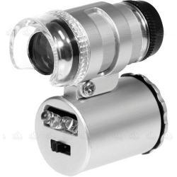 Microscopio Mini Lupa Zoom 60x Luz Led Para Joyero Relojero