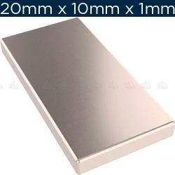 Si buscas 20 Imanes De Neodimio 20mm X 10mm X 2mm Placa + Envío Gratis puedes comprarlo con IN EXCELSIS NET está en venta al mejor precio