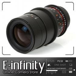 NEW Samyang 100mm T3.1 VDSLRII Cine Lens for Canon EF Mount with Macro