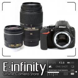 NEW Nikon D5600 DSLR Camera Black + AF-P 18-55mm VR + AF-S 55-300mm VR Lens