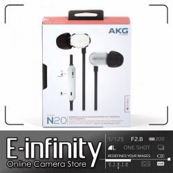 NEW AKG N20U Reference Class In-Ear Headphones with 3 Button Remote (Silver)