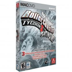 ROLLERCOASTER TYCOON 3 - Platinum game for Apple Mac, NEW, Rated G