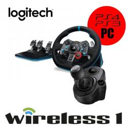 Logitech G29 Driving Force Racing Wheel For PS3 PS4 PC + G Force Driving Shifter