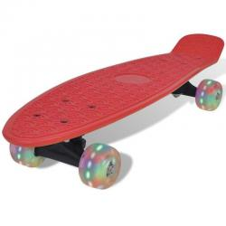 If you are looking Red Retro Skate Board Complete 56x15cm Multi Colour LED Wheels Speed Cruiser You can buy it now, it is for sale Australia