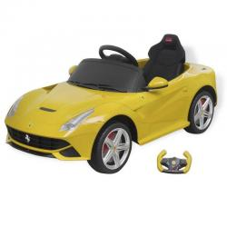 Licensed Ferrari F12 Electric Ride-on Car Remote Control 6V Toy Kid Child Yellow